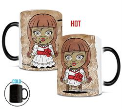 Horror has been given Chibi treatment. Annabelle is still searching for her soul, but beware, because she's found you on this Morphing Mugs® drinkware!