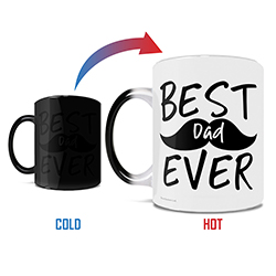 Celebrate the best dad ever with this 11 oz color changing ceramic mug! Featuring a cute mustache in the background, this is perfect for the dad with the best facial hair in town.