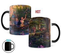 Disney's Pocahontas, Meeko, Flit, and John Smith are featured on this gorgeous, color-changing mug. Typical of Thomas Kinkade Studios, this officially licensed image is full of vivid colors, details, and beautiful nature.