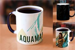 Pour hot liquid into this officially licensed Aquaman Morphing Mugs® Heat-Sensitive Mug and call on the King of Atlantis, Aquaman. The exterior of this officially licensed 11oz mug transforms from black as hot liquid is added, revealing the hidden image.
