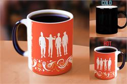 Pour hot liquid into this officially licensed Clockwork Orange Morphing Mugs heat-sensitive drinkware and Alex's Droogs appear. The gang's silhouettes are featured on an orange paisley, very 70's design.