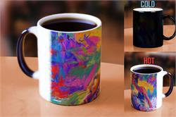 Blend Cota has masterfully painted a ballerina at rest that's featured on this drinkware. Add your favorite hot liquid to watch the vibrant colors appear, helping the image come to life. Perfect for the art collector in your life!