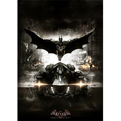 Bring Batman: Arkham Knight to your Batman™ display with this MightyPrint Wall Art. This collectible features an image of Batman and the Batmobile as they appear in Batman: Arkham Knight.
