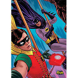 Bring the nostalgia of the classic Batman™ TV Series to your Batman display with this MightyPrint Wall Art. This collectible features Batman and Robin snapping a quick selfie in between thwarting villainous schemes.