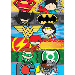 The Justice League is assembled and ready to take on the next villain, killing them with … cuteness. Sorry, Batman, we mean catching them and handing them over to the proper authorities … with cuteness.   Your wall has never been so fierce and adorable.