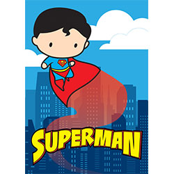 It's a sweet little bird. It's a precious plane. It's ridiculously adorable Superman! This MightyPrint™ Wall Art is super bright, super vivid, and super durable. Move it from wall to wall and have no fear! It can take it!