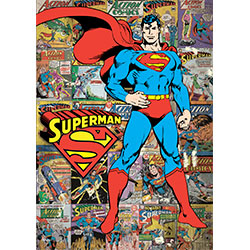 The Man of Steel stands guard, his red cape flowing behind him. The background of this officially licensed DC Comics MightyPrint™ is covered in classic Supes comic book covers. Like Superman, this MightyPrint™ Wall Art is tough, colorful, and resistant