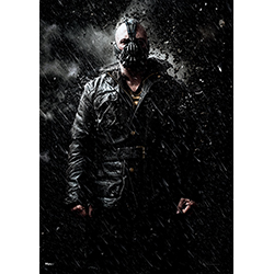 "Bane looks deadly on this 17"" x 24"" MightyPrint Wall Art. With rain and rocks crashing over him, Batman's nemesis appears to be as cold as ever on this officially licensed Dark Knight Trilogy decoration."