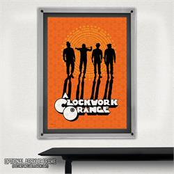 Just a group of guy pals, hanging out, wearing hats. Just kidding. They're the worst.  Alex's Droogs are featured on this vintage-style, officially licensed A Clockwork Orange MightyPrint™ Wall Art.