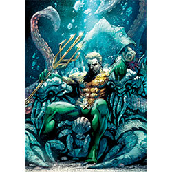 Arthur Curry sits on his watery throne as the King of Atlantis. This officially licensed DC Comics MightyPrint™ Wall Art is super strong and resistant to the damages that paper posters suffer so easily.