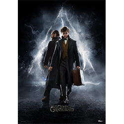 Newt Scamander and Dumbledore by Eddie Redmayne and Jude Law are featured on this officially licensed Fantastic Beasts – The Crimes of Grindelwald MightyPrint™ Wall Art.     This is not a paper print.