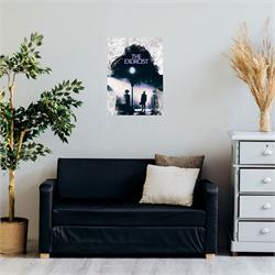 "Horror fans all remember the first time they saw The Exorcist. Now, you can commemorate that moment forever with this MightyPrint™ Wall Art. A shadow of the possessed Regan sits in the middle of the wall art, with ""I'm Not Regan"" all around."