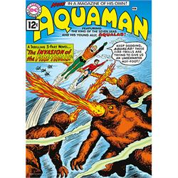 "This 17"" x 24"" MightyPrint Wall Art features the cover art from this iconic comic book introduction with Aquaman and Aqualad dodging the fire trolls."