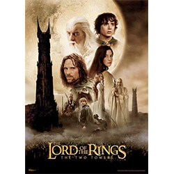"The Lord of the Rings trilogy continues with The Two Towers! Featuring the original movie art for the famous second act of the series, this 17"" x 24"" MightyPrint Wall Art is perfect for the LOTR fan in your life."