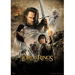 "The Lord of the Rings trilogy concludes with The Return of the King! Featuring the original movie art for the famous second act of the series, this 17"" x 24"" MightyPrint Wall Art is perfect for the LOTR fan in your life."