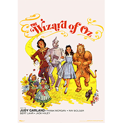 """We're off to see the wizard, the wonderful Wizard of Oz!"" Dorothy, Scarecrow, Tin Man, Cowardly Lion and Todo stroll down the Yellow Brick Road on this 17"" x 24"" MightyPrint Wall Art."