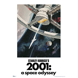 "Arthur C. Clarke's novel was turned into a film masterpiece by directed Stanley Kubrick in the 1960s and is still an iconic film today, decades later. This 17"" x 24"" MightyPrint Wall Art features artwork from the original movie cover art."