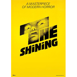 "Stanley Kunbrick's 1980s take on Stephen King's ""The Shining"" is a horror film that has been known to fight audiences for decades. This 17"" x 24"" MightyPrint Wall Art shows the original movie cover artwork for the famous horrifying flick."