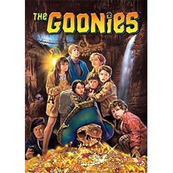"! This 17"" x 24"" MightyPrint Wall Art features the adventures cast of the Goonies and the lost fortune of One-Eyed-Willy. Give yourself a sense of nostalgia as this home décor shows the official original movie cover artwork for the 1985 film!"