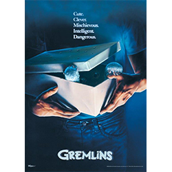 "Gremlins is a popular 1980s film featuring the cutest little creatures, but they also have an evil side to them. This 17"" x 24"" MightyPrint Wall Art features the Gremlins movie poster art."