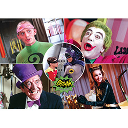 Bring the nostalgia of the classic Batman TV Series to your Batman display with this MightyPrint Wall Art. This collectible features a collage of the classic Rogues Gallery, as well as Batman and Robin, from the 1960s TV Series. Holy nostalgia, Batman!