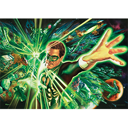 Hal Jordan is the Green Lantern in this officially licensed MightyPrint™ Wall Art. But he can't save the universe alone. He's surrounded by Lanterns from all over!