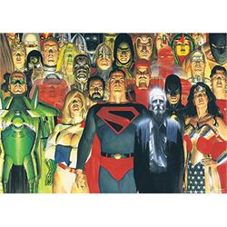 "This 24"" x 17"" MightyPrint Wall Art features many members of the Justice League on this Alex Ross design. From Superman to Hourman, can you name each of the characters on this print?"