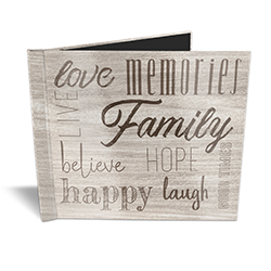 "Having somewhere to go is home. Having someone to love is family. And having both is a blessing. Show off your favorite memories with this 11"" x 8.5"" photobook featuring a rustic design and precious words to describe your love for your family, friends and"