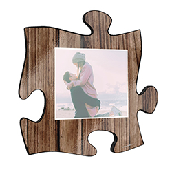 "Your life is beautiful, and this unique personalized wall art is a wonderful way to show your favorite photo of a cherished memory! This 12"" x 12"" printed wood puzzle piece wall art has an area to upload your favorite picture."