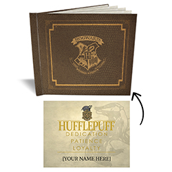 This sketchbook features the Hogwarts crest, making it the perfect place to stash your acceptance letter, journal entries and doodles. Open your sketchbook and find 5 sheets of blank parchment paper along with your gift from the Sorting Hat itself – a cer