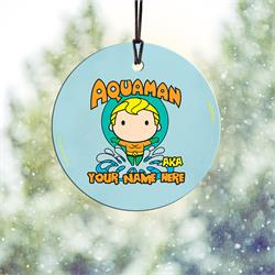 Fish are your friends, and you're amazing at swimming. Now, show off to the world that you're Aquaman with this personalized hanging glass decoration. Add your name so that everyone remembers what you're also known as.