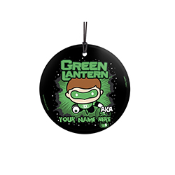 In brightest day and blackest night, you always make sure evil doesn't escape your sight. Now, you can show off to the world that you're the Green Lantern with this personalized hanging glass decoration. Add your name so that everyone remembers what you'r