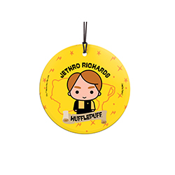 Cedric Diggory is proud to be a Hufflepuff, are you? Show off your Hogwarts House pride with this hanging glass decoration. Personalize with your name above an image of Cedric.