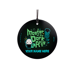 Voldermort has always been known as one of the Masters of the Dark Arts. Now, you can let your love of the dark side known with this hanging glass decoration. Personalize with your name to show you know just as much about dark magic as He Who Shall Not Be