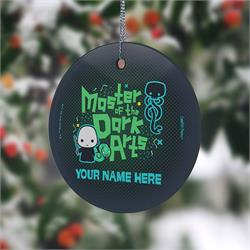 VoVoldermort has always been known as one of the Masters of the Dark Arts. Now, you can let your love of the dark side known with this hanging glass decoration. Personalize with your name to show you know just as much about dark magic as He Who Shall Not