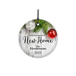 You finally found the home of your dreams! Celebrate the first year in your new home with this personalized hanging glass decoration. Add your name and year to remember the occasion forever.