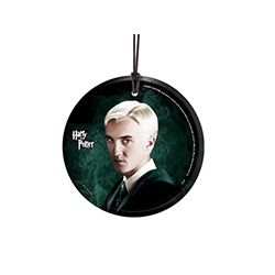 Despite his Slytherin ancestry and history of being a Death Eater, Draco Malfoy is a fan favorite among Harry Potter lovers. Underneath the pureblood's confident demeanor is a young man with a caring heart. This hanging glass accessory shows the young Sly
