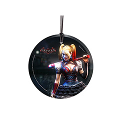 Harley is ready for action! Hang this decoration of Harley Quinn from Batman: Arkham Knight up and show off your love of the series wherever it is.