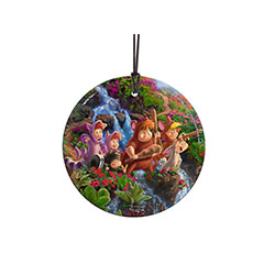 The Lost Boys of Peter Pan are some of the most endearing characters of Disney's animated version of J.M. Barrie's Peter Pan.  This Thomas Kinkade magical hanging glass captures both their mischief and innocence in its sublime attention to the detail.