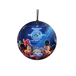 Celebrate 90 years of Disney's Mickey Mouse with this officially licensed decoration by Thomas Kinkade Studios.  The vivid image full of Disney friends is illuminated in natural light!