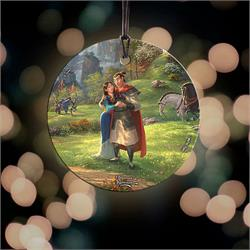Mulan and Captain Li Shang share an embrace in this StarFire Prints Hanging Glass Decoration. After helping save China from the Huns, the pair can enjoy the peace together.