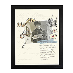 ! Featuring intricate designs of your favorite symbolic items and places and an image of Potter himself opening his letter, your name is added to give this invitation a customized feel to put you in the magical moment.
