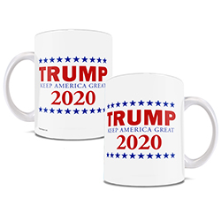 What's better than 4 years of Trump? How about 4 more years! Show your Trump support with this white ceramic mug.