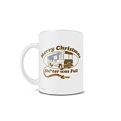 Remember the iconic scene with cousin Eddie emptying the RV toilet into the Griswold's sewage system with this 11 oz heat sensitive mug.