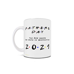 This Friends inspired 11 oz ceramic mug is perfect for the dad who loves Friends and is spending the day celebrating with loved ones in quarantine during the coronavirus pandemic.