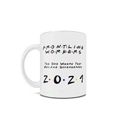 Thank you to all who are working through this pandemic – you are truly a hero! This Friends inspired 11 oz ceramic mug is perfect for the frontline worker who loves Friends.
