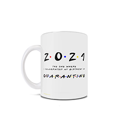 This Friends inspired 11 oz ceramic mug is perfect for the Friends TV show fan who is celebrating their special day in quarantine during the coronavirus pandemic in 2020.