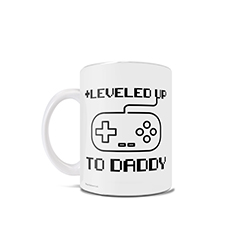 This 11 oz ceramic mug is perfect to surprise your gaming significant other that they will soon become a father to a little mini-me within a few months or to gift any dad for whatever occasion you choose.