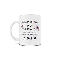 This Friends inspired 11 oz ceramic mug is perfect as to join you on your quarantined Independence Day shenanigans and is a great memento of the historic events that occurred in 2020.