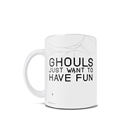 "Get your girls together and have a great time this Halloween season! As Cindi Lauper might say, ""ghouls"" just wanna have fun. This punny 11 oz ceramic coffee mug is perfect for those who cannot wait to enjoy time with their closest friends this fall."